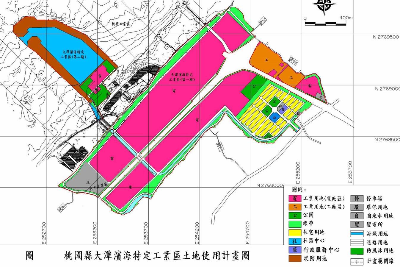 桃園市大潭濱海特定工業區土地使用計畫圖