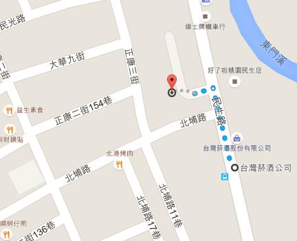 經發局市場科Google地圖