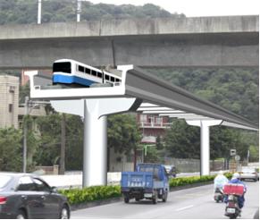 捷運棕線完工模擬遠圖