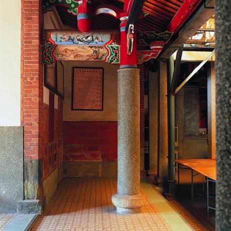圖片描述:新屋范姜祖堂內部空間