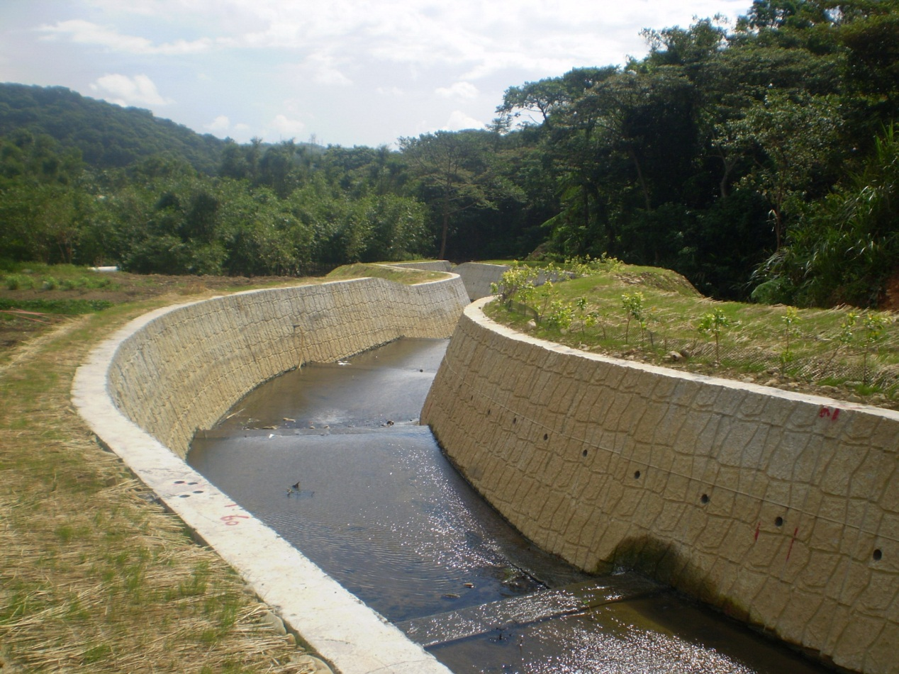 風尾坑野溪整治工程-工程後