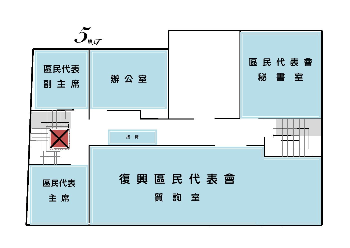 辦公室配置圖5F