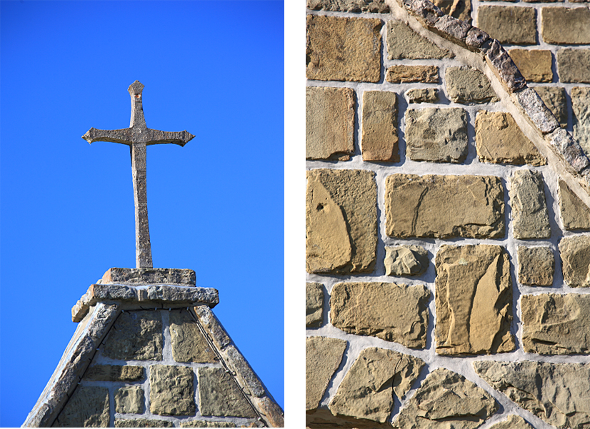 The Cross of the Church / Double-layered Stone Walls