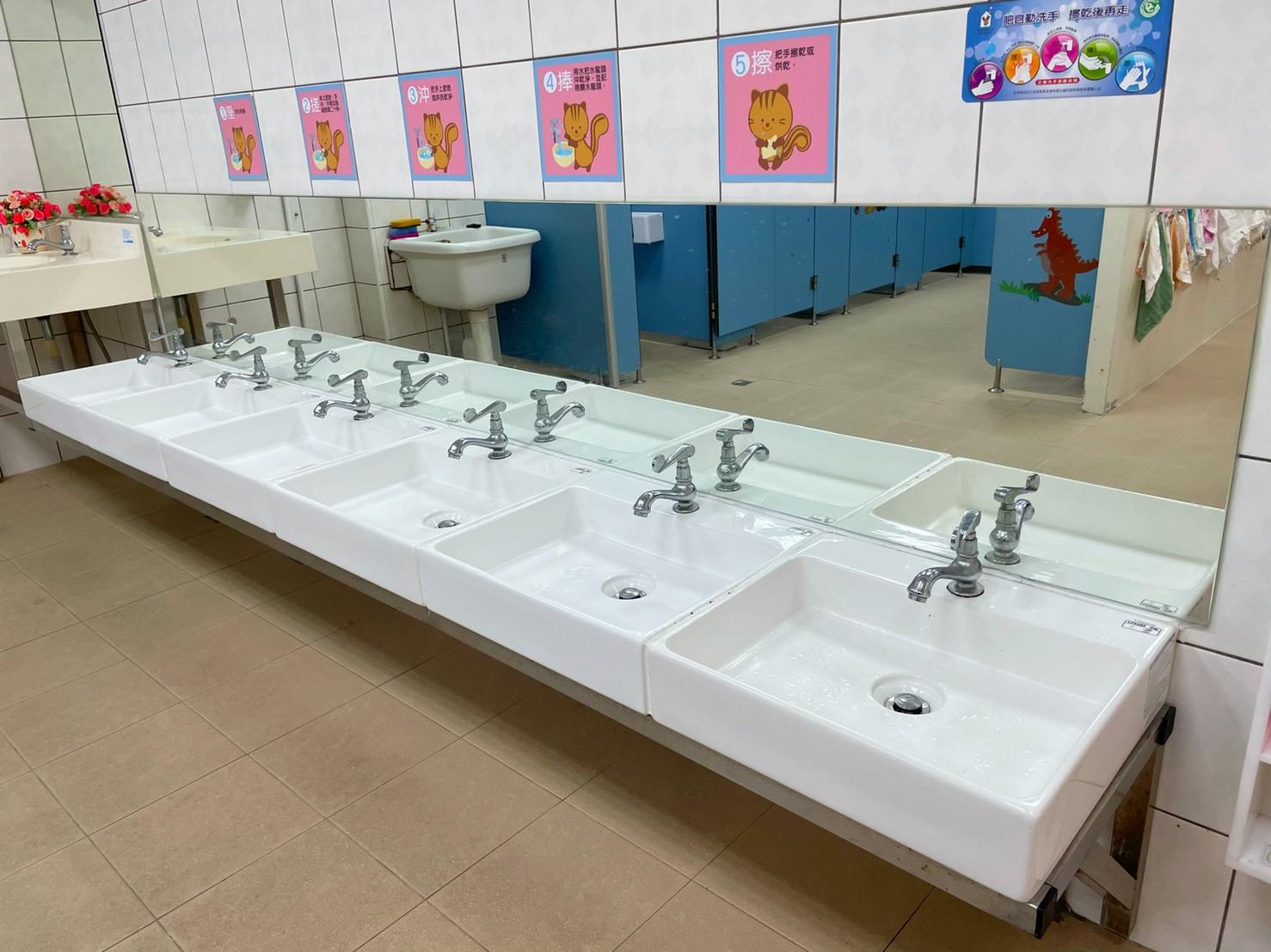 上竹分班洗手間洗手台