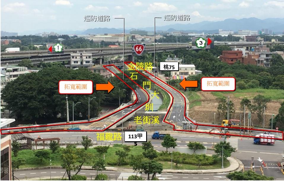 石門大圳工程範圍圖