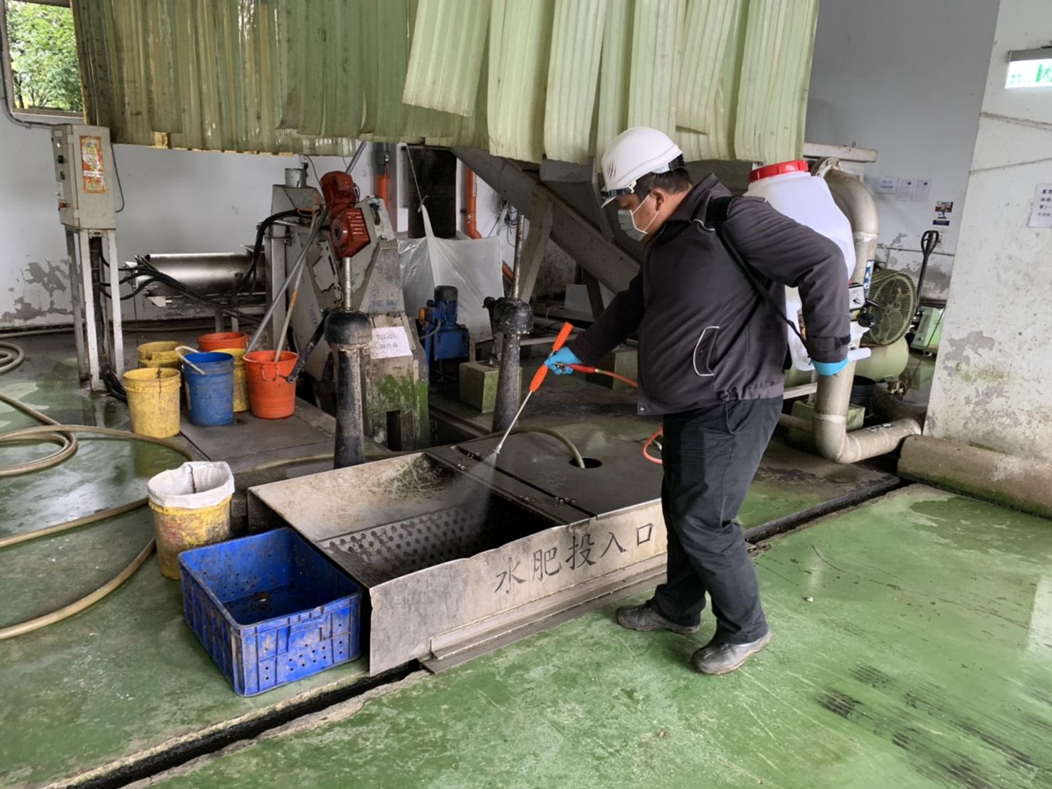 配合防疫各水資中心進行環境消毒作業