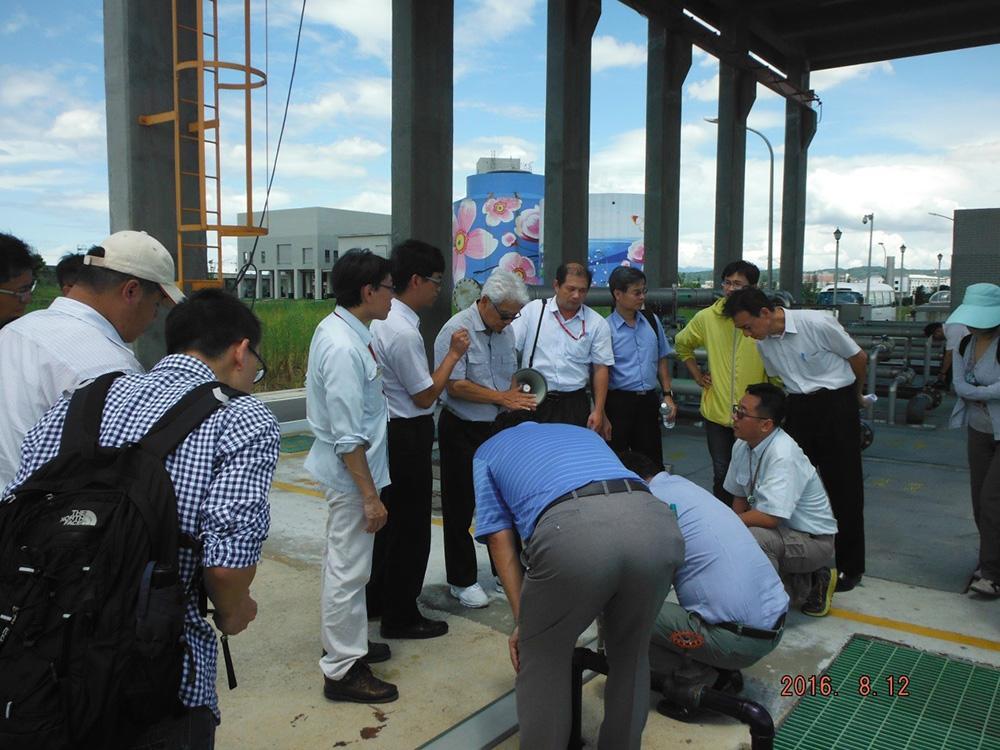 105年08月12日中興工程顧問社辦理參訪團:海外學者來訪參觀相關放流處理單元