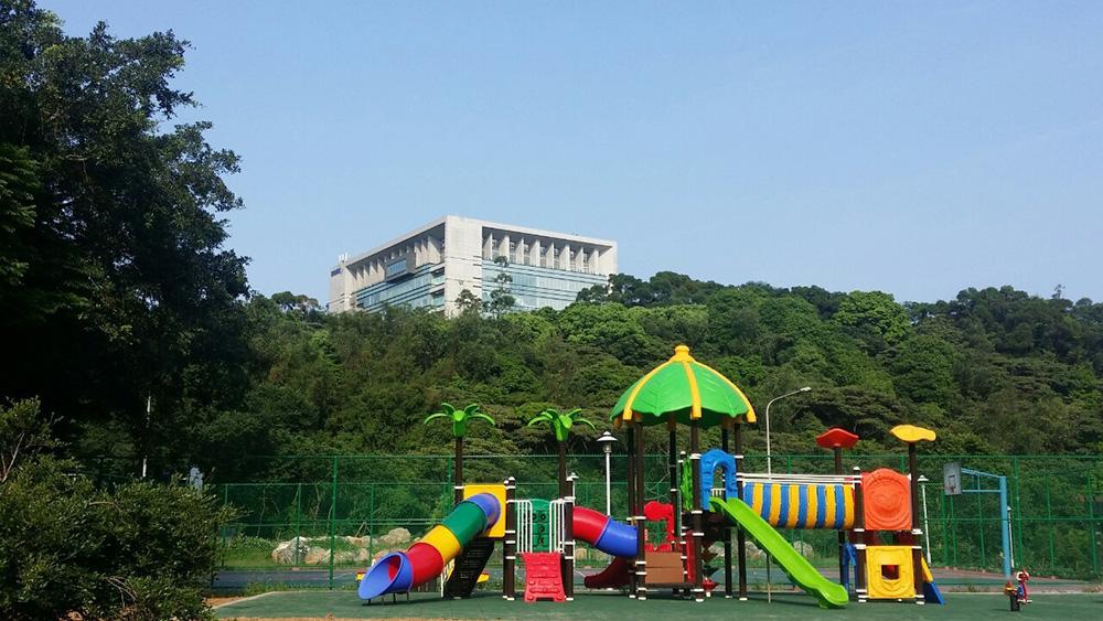 龜山水資源中心:地方回饋公園中兒童遊憩設施
