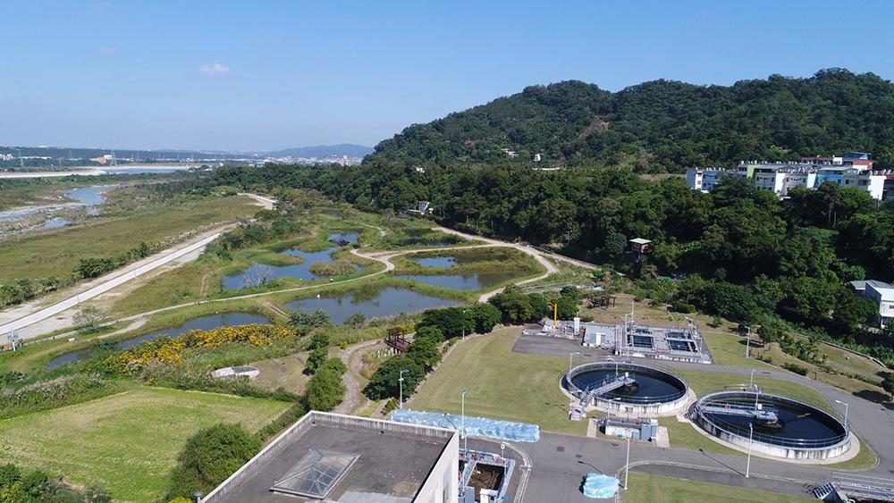 大溪水資源中心空照圖:遠眺月眉濕地生態多樣