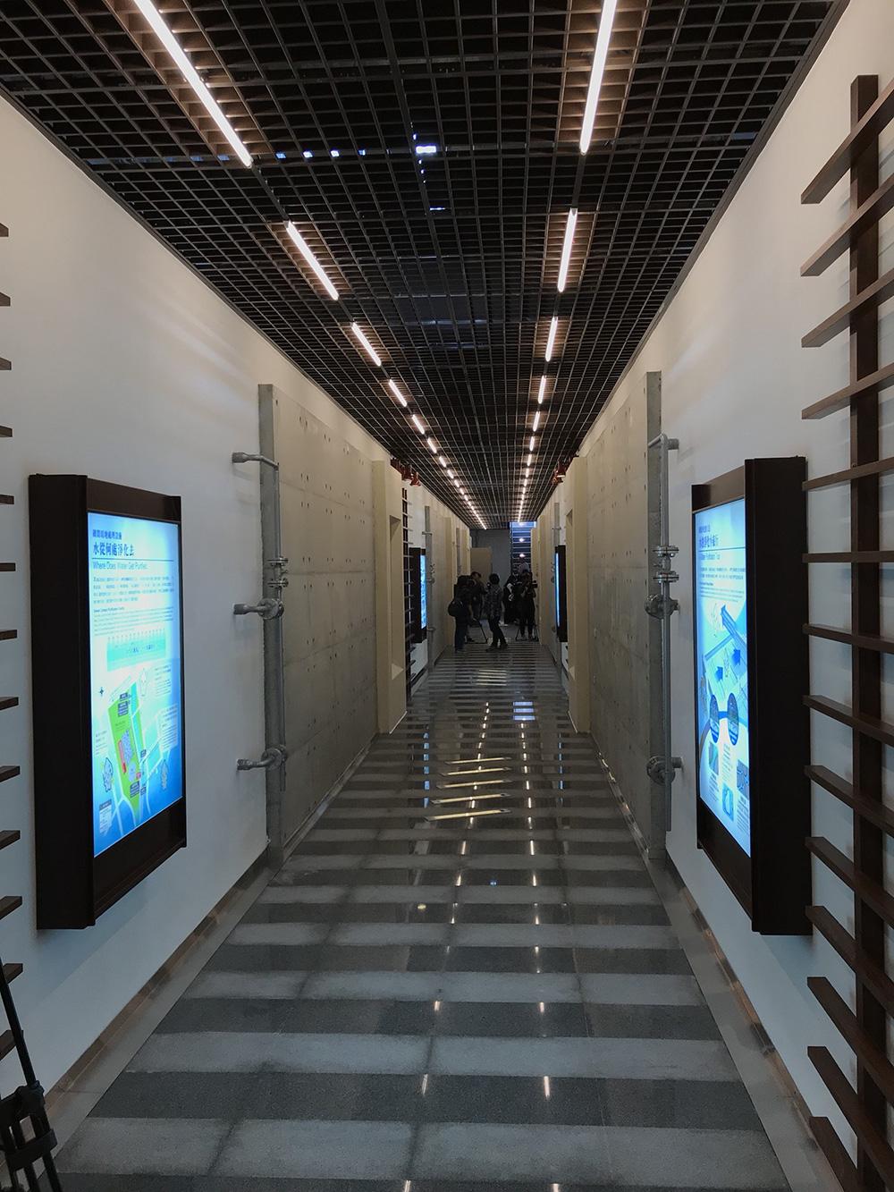 《朝陽水語教育園區》《朝陽水語教育園區地下「礫間工程」廊道》
