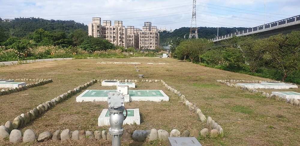 員樹林礫間處理系統:收集大溪市鎮排水河未處理之污水,透過礫間處理系統淨化