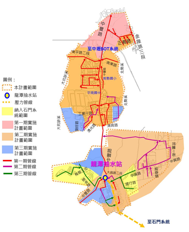 龍潭平鎮(山子頂)污水系統