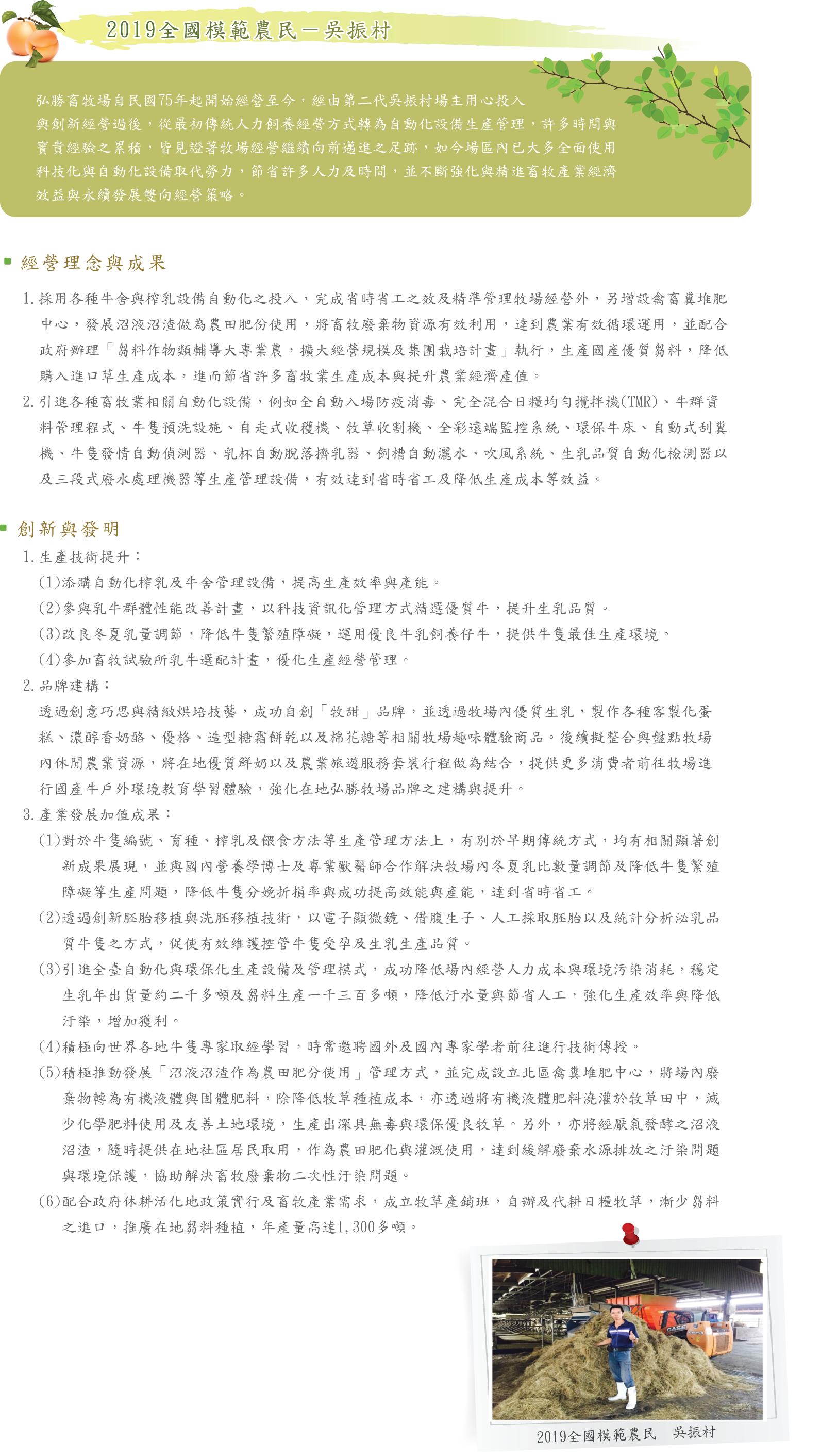 2019全國模範農民 吳振村