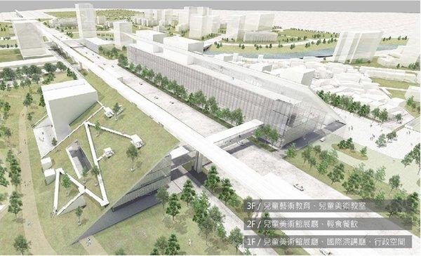 桃園市立美術館建築示意圖
