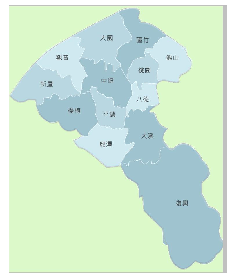 桃園市土地面積