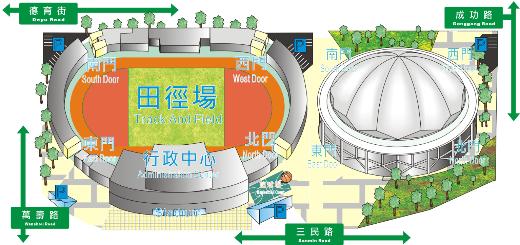 體育館位置圖