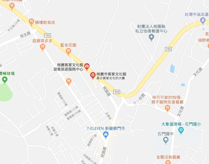 桃園市客家文化館google map
