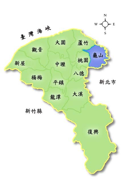 桃園各地區位置圖