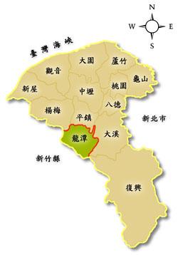 桃園市龍潭區地理位置圖