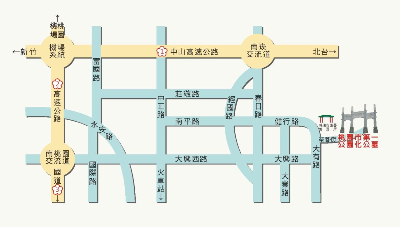 公墓週邊交通位置圖