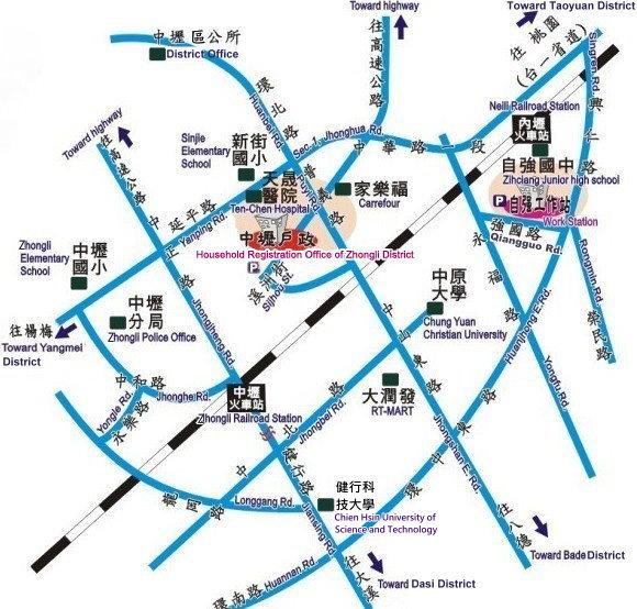 交通路線圖,行車請參考前述乘車指示。