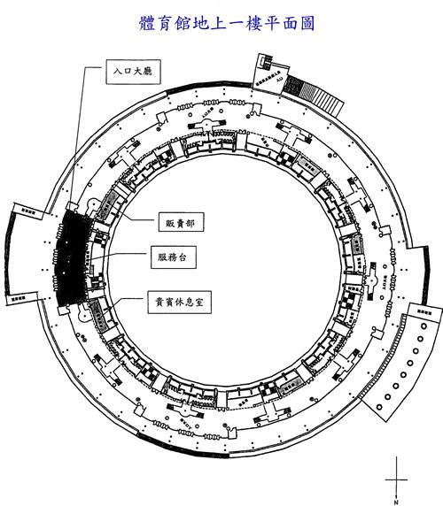 體育場地上一樓平面圖