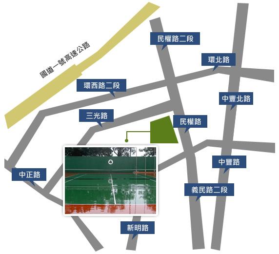 桃園市網球場位置圖
