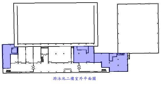 游泳池二樓室外平面圖