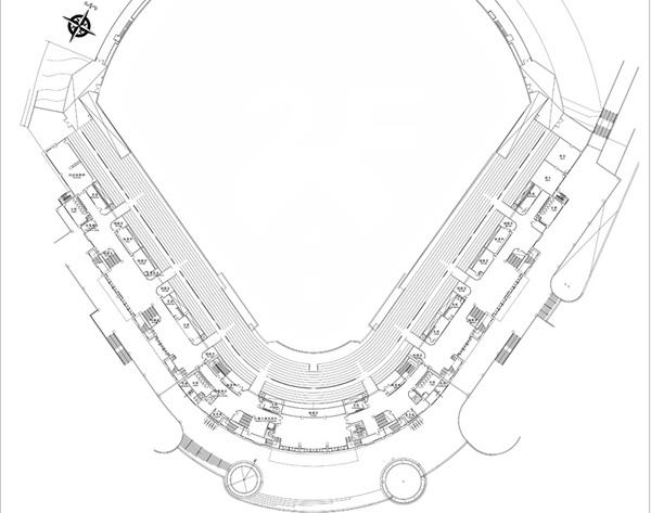 桃園國際棒球場二樓平面圖