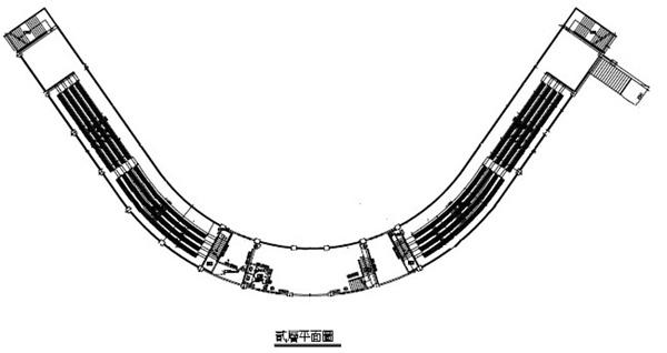 青埔運動公園棒球場二樓平面圖