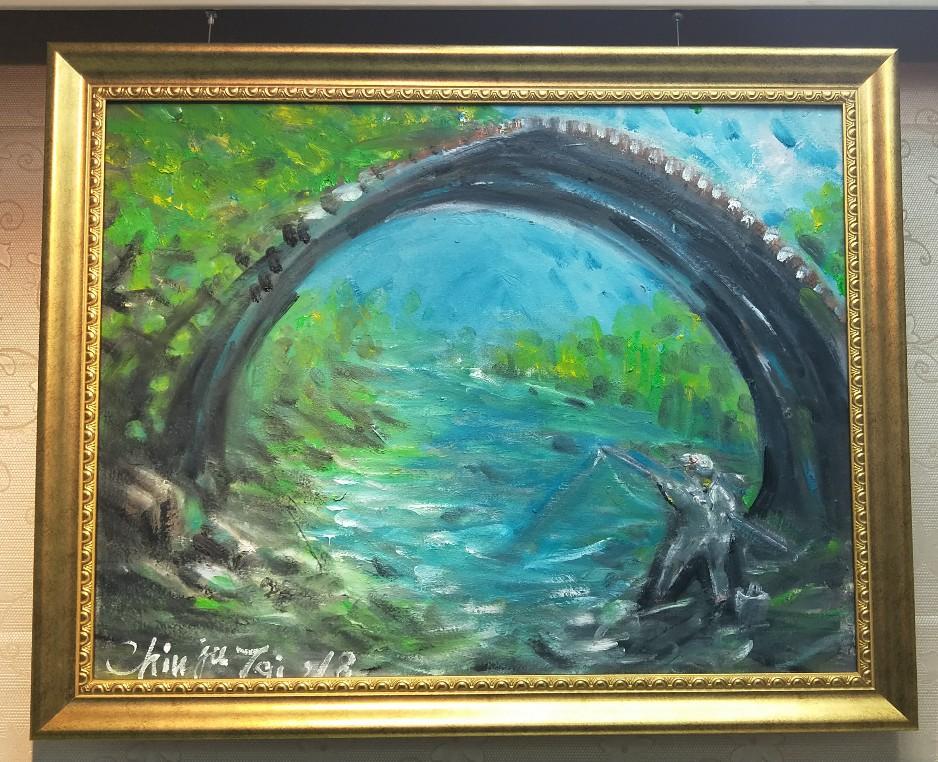 野溪、老橋、獨釣