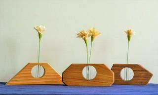 手作花器與康乃馨