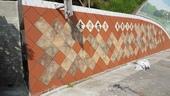 擋土牆美化工程完工照片壓印陶板