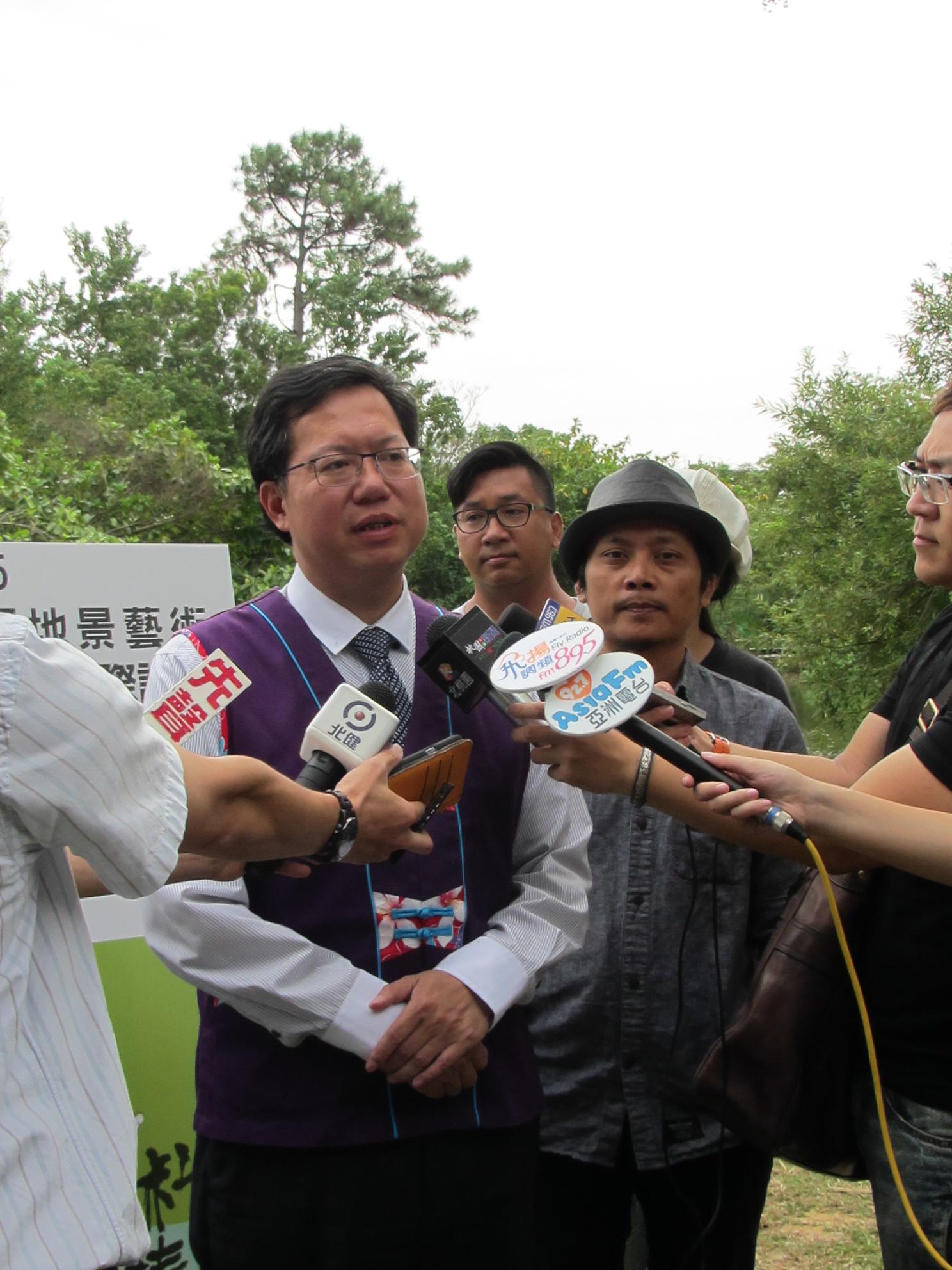 2015桃園地景藝術國際論壇-市長受訪