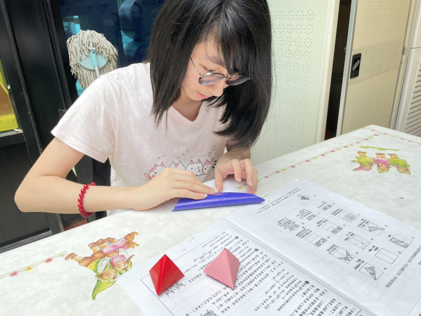 仁美國中九年級欒慈苓同學製作多面體