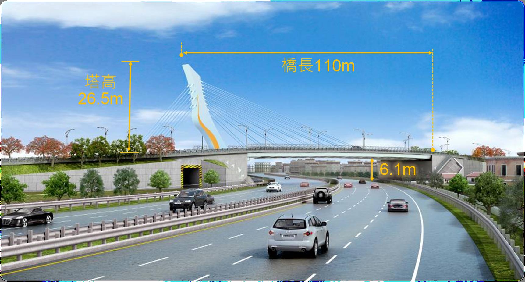 桃19號道路(大竹路段)道路拓寬工程-成果模擬圖【另開新視窗】