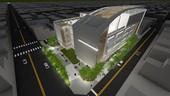 桃園市東門公有零售市場興建工程-完工模擬圖(夜間)