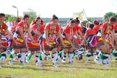 The indigenous male dancers of Taoyuan City Indigenous joint harvests