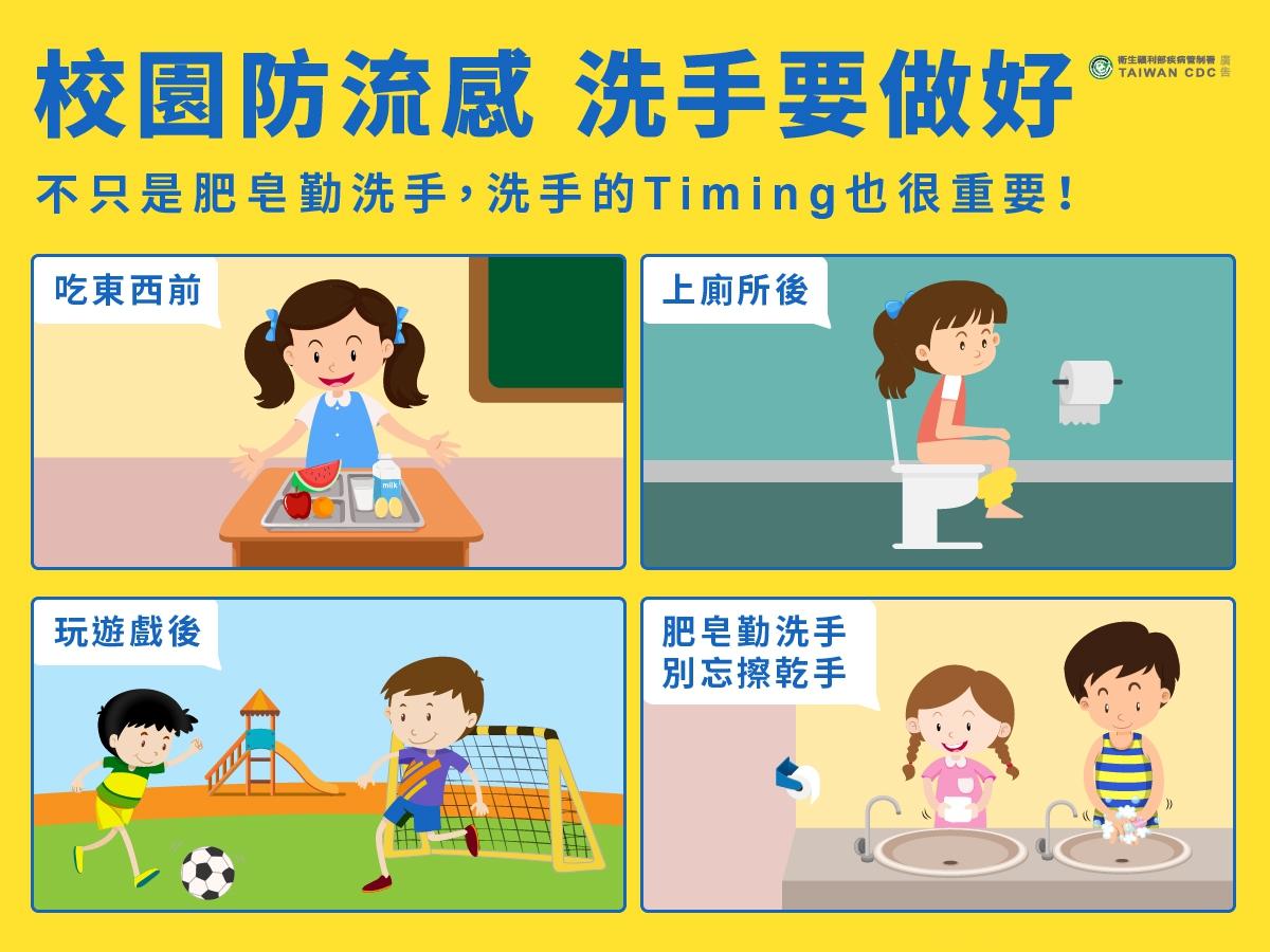 校園防流感洗手要做好