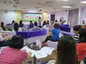 各區公所性平團隊成員認真聆聽課程情形。