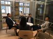 青年局陳家濬局長與日本貿易振興機構討論合作可能性