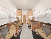 圖:棒球宿舍4人房內部模擬圖