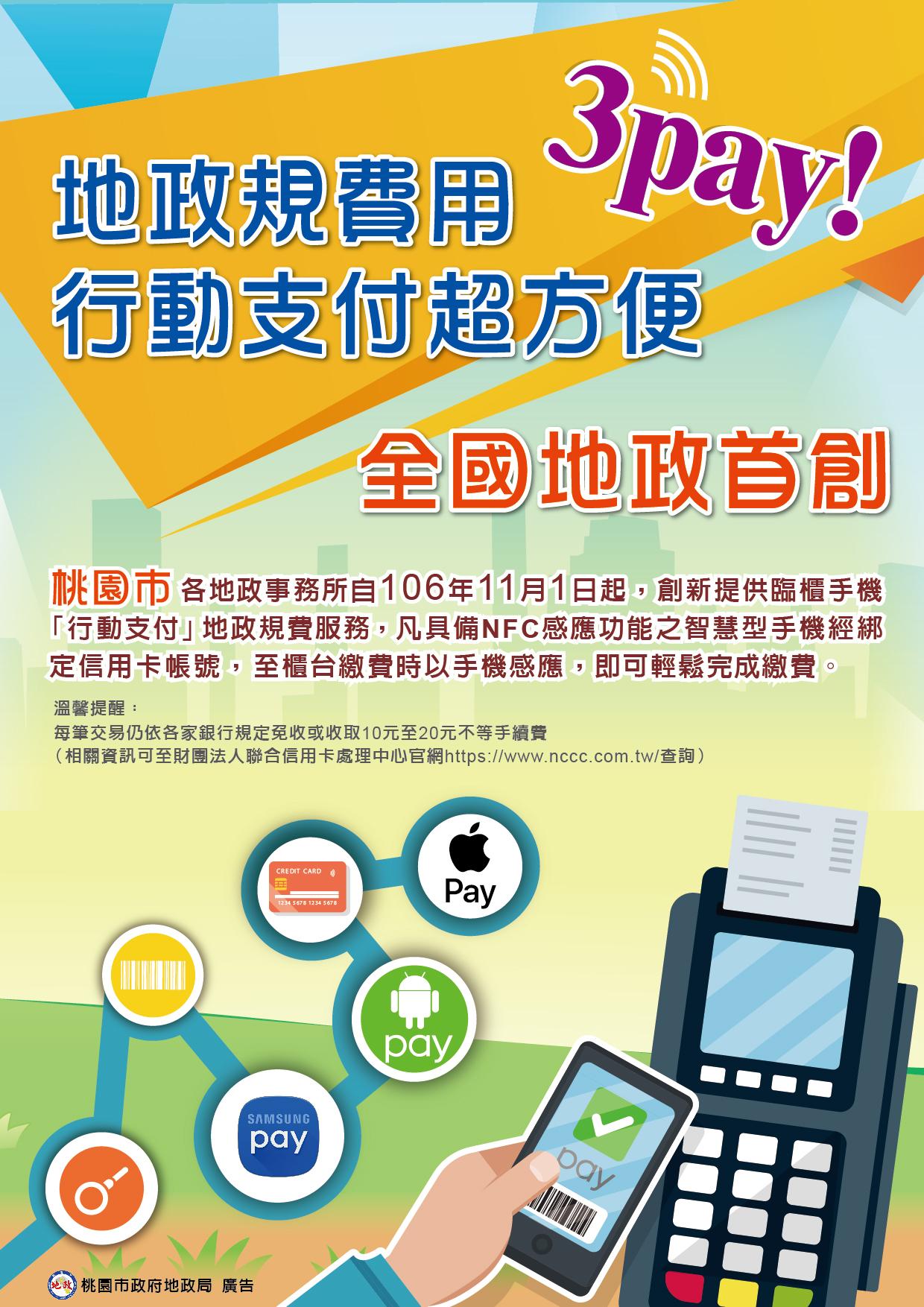 地政規費以手機「行動支付」服務