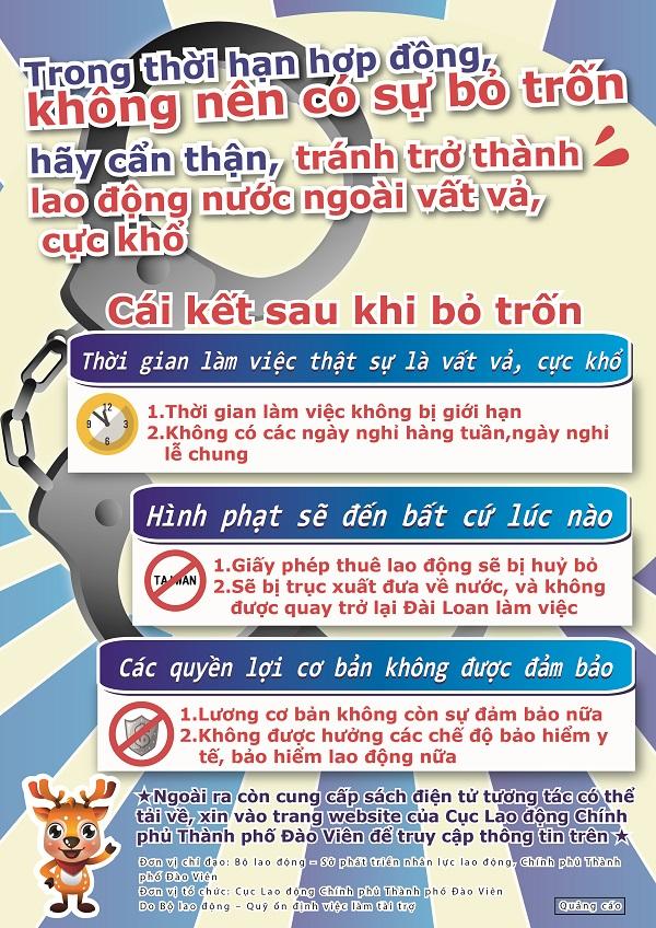 合法聘僱外籍勞工宣傳DM-外籍勞工-越南版(正面)
