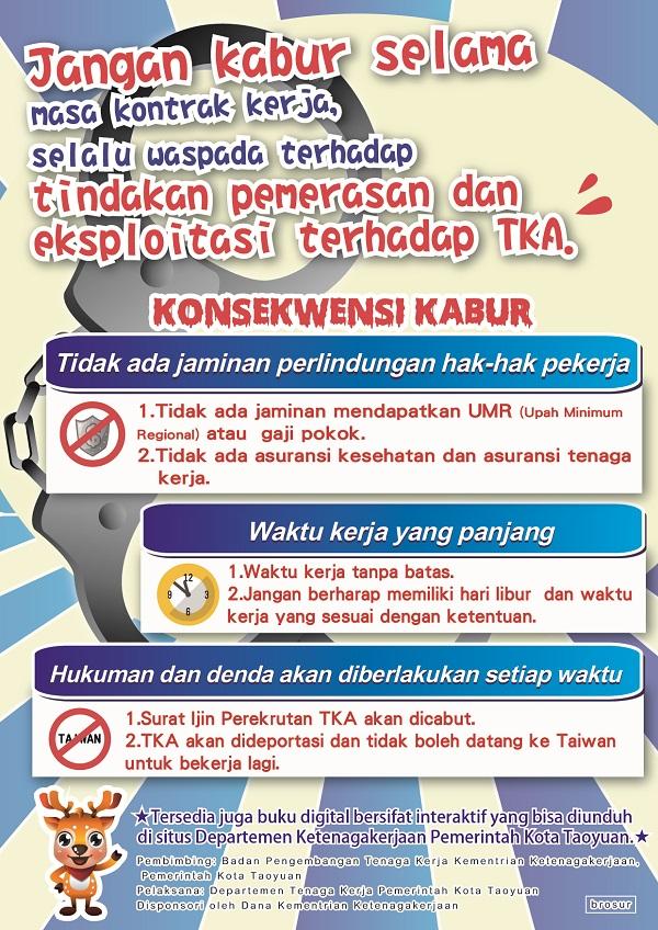 合法聘僱外籍勞工宣傳DM-外籍勞工-印尼版(正面)