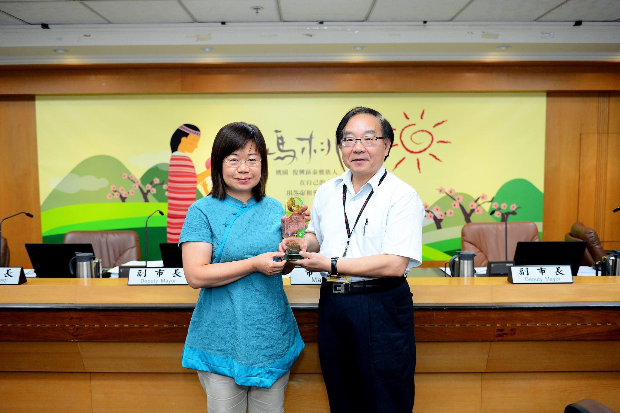 龍潭區公所道路養護管理績效考評第二名