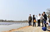 視察千塘之鄉埤塘光電綠能計畫 鄭市長:3年產生660百萬瓦(MW)發電量,落實國家能源轉型