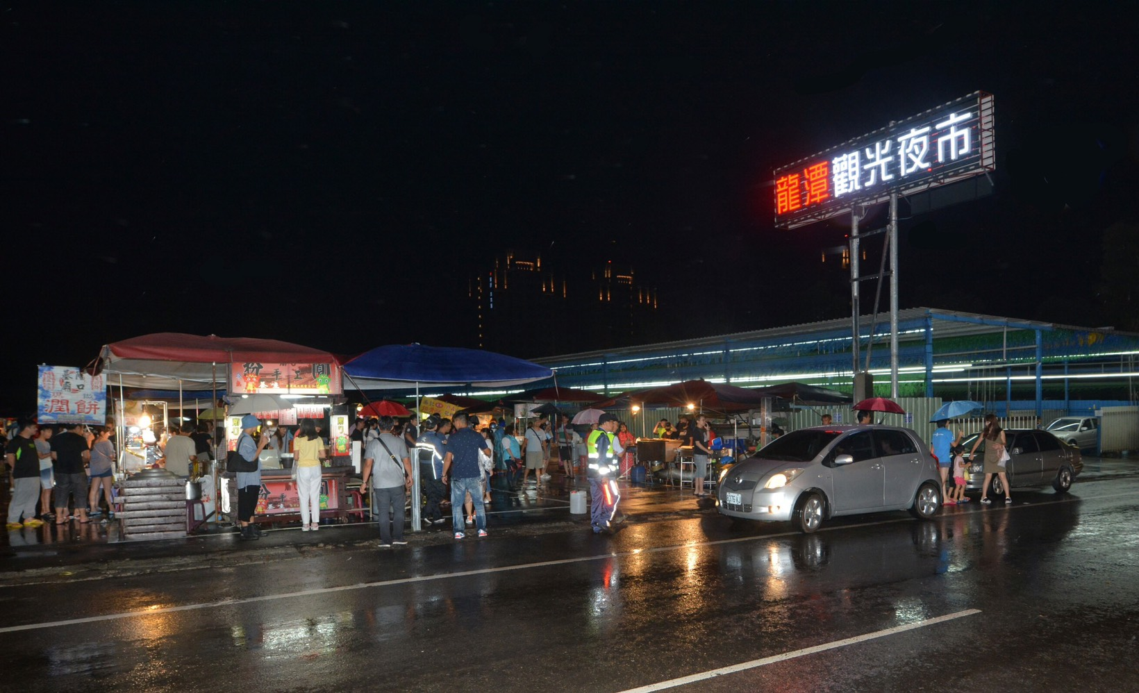 龍潭觀光夜市於2日晚間開幕。(桃園市政府)