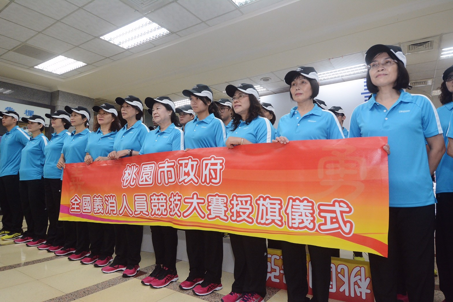 參加全國消防暨義勇消防人員競技大賽的婦宣大隊成員