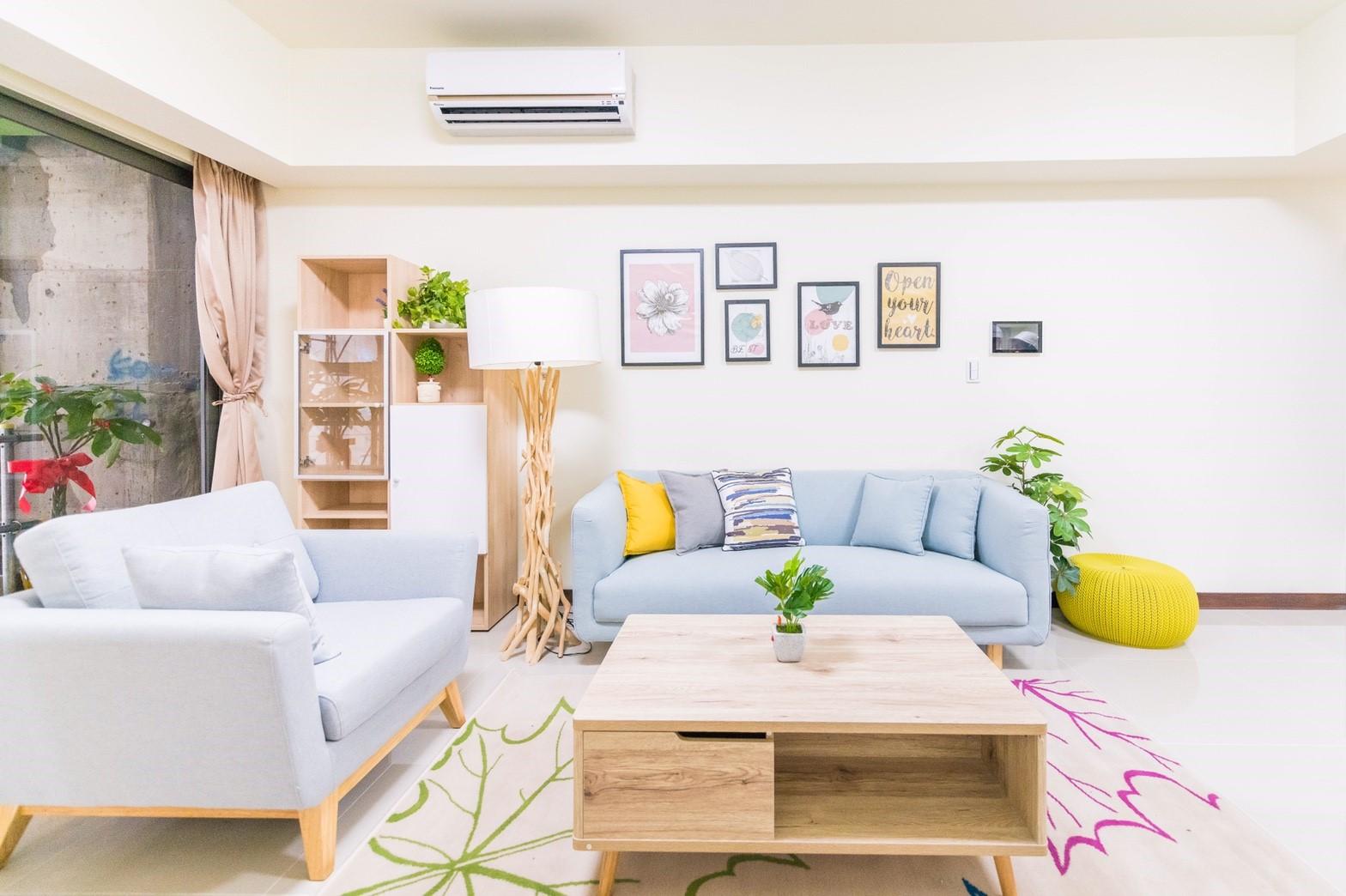 中路二號社會住宅客廳空間及家具擺設